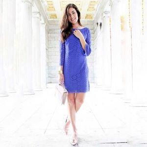Lilly Pulitzer topanga purple lace shift dress s